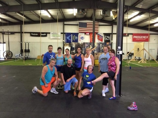 The folks at CrossFit RTB, after my introductory lesson.